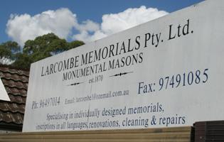 Larcombe Memorials
